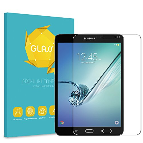 Fintie Tempered Glass Screen Protector for Samsung Galaxy Tab S2 8.0, 9H Ultra Clear Anti-Scratch Oleophobic Screen Protectors for Samsung Galaxy Tab S2 / S2 Nook 8.0 Inch Tablet