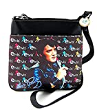 Elvis Presley Cross Body Bag, Black Jacket with Microphone