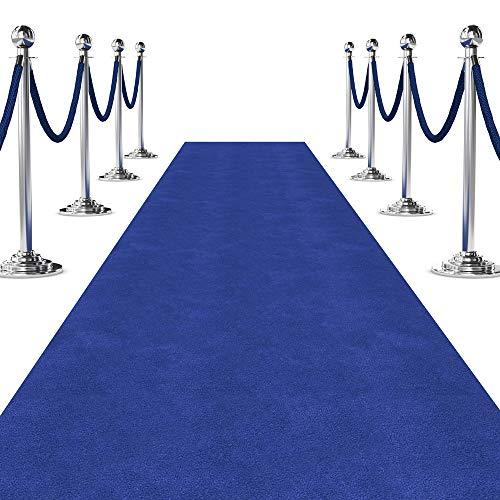 Blue Carpet Aisle Runner for Events (3 ft Wide x 10 ft Long, Blue)