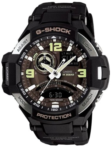 Casio G-Shock Black Dial Men's Quartz Watch – GA1000-1B, Watch Central