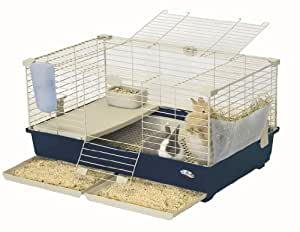 Marchioro Tommy 82 Deluxe Cage for Small Animals, 32.25 inches, Blue/Beige