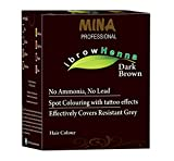 MINA Professional Eyebrow Henna Refill Pack & Tinting Kit For Eyebrow Color Dark Brown