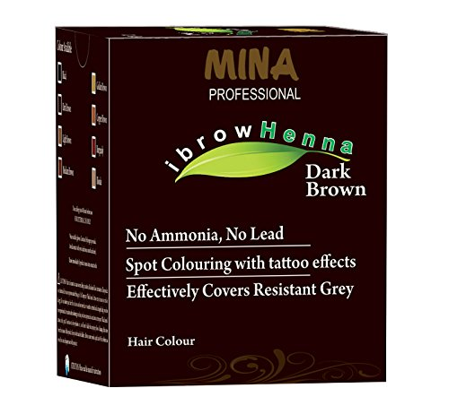 MINA Professional Eye Brow Henna Refill Pack & Tinting kit- Dark Brown(12gm) - Professional Henna
