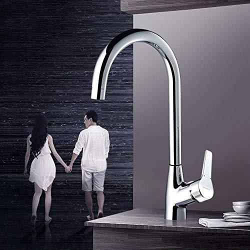 SXYULQQZ Kitchen Faucet Sink Wash Basin Faucet hot and Cold Faucet Sink Faucet Splash Head Genuine Healthy net Lead Ceramic Valve core 360deg; Rotation