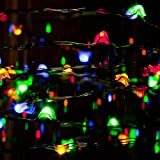 Gerson 9 feet Multi Colored Batterry Operated LED Light Set