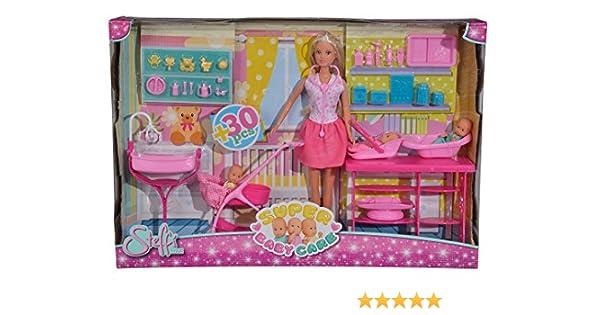 Amazon.es: Simba 105733212 Steffi Love Super Baby Care Accesorio para muñecas: Juguetes y juegos