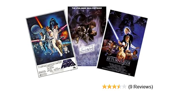 Amazon Com Star Wars Episode Iv V Vi Movie Poster Set 3 Full Size Movie Posters Size 24 Inches X 36 Inches Each Prints Posters Prints