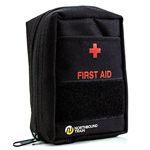 Northbound Train First Aid Kit for Camping - Fully Stocked with Molle Attachments for Tactical First Aid, Travel, and Hiking (Medical Kit)