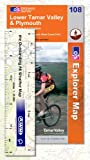 Front cover for the book Explorer Map 108: Lower Tamar Valley and Plymouth by Ordnance Survey