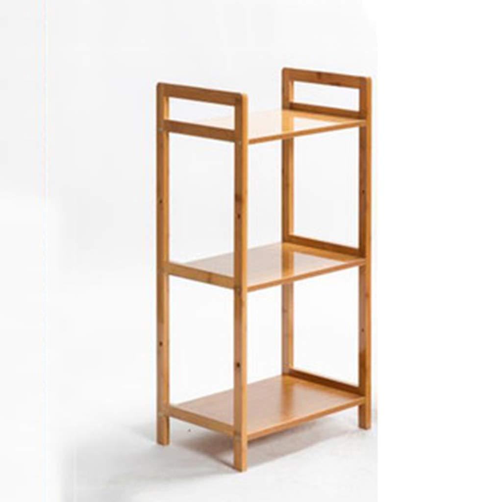 収納 ラック 3層竹収納棚シンプルなリビングルーム書棚寝室の部屋収納収納棚木製パーティションフロアシェルフ B07T1R2G4K