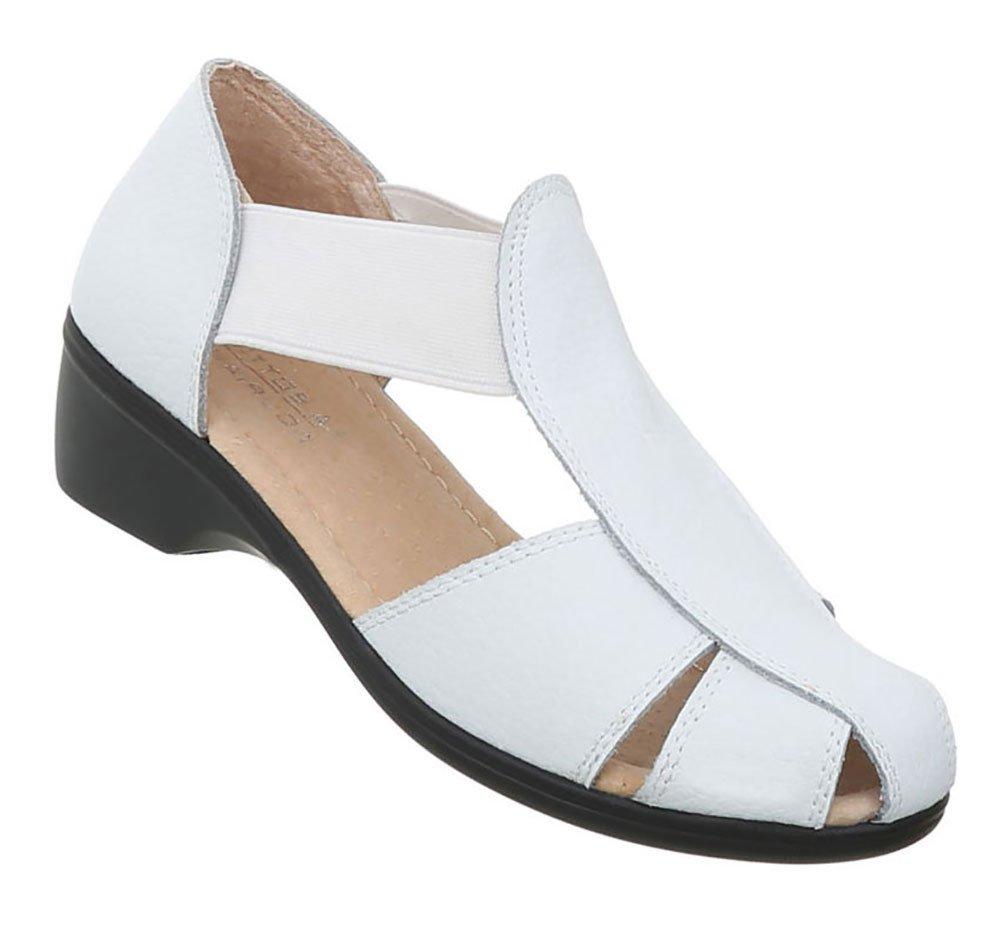 Damen Schuhe Sandalen Leder Pumps41 EU Modell Nr.1wei?