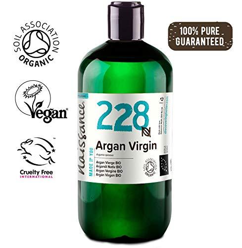 Naissance Organic Moroccan Argan Oil 16 fl oz - Pure & Natural, UK Certified Organic, Vegan, Hexane Free, No GMO - Unscented Natural Moisturizer & Conditioner for Face, Hair, Skin (Best Argan Oil For Hair Uk)