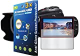 GuarmorShield 3x Canon VIXIA HF-G10 HF-G20 HF-G30 Camcorder Premium Anti-Glare Anti-Fingerprint Matte Finishing LCD Screen Protector Guard Kit (NO CUTTING, GUARMOR Brand)