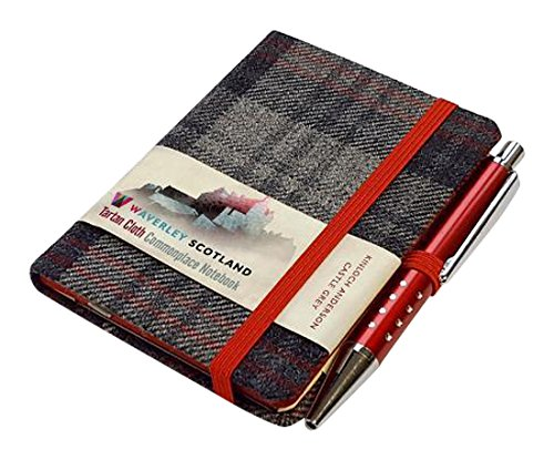 Price comparison product image Castle Grey Tartan: Mini with Pen: 10.5 x 7.5cm: Scottish Traditions: Waverley Genuine Tartan Cloth Commonplace Notebook (Waverley Scotland Tartan Cloth Notebooks)