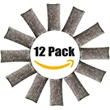 12 Pack Natural Air Purifying Bags and Odor Remover, Shoe Deodorizer and Odor Eliminator 100% Natural Non-Toxic