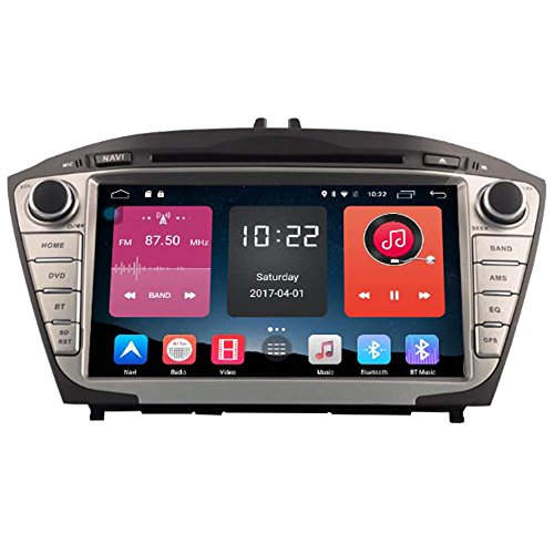 Autosion In Dash Android 6.0 Car DVD Player Sat Nav Radio Head Unit GPS Navigation Stereo for Hyundai IX35 Tucson 2009 2010 2011 2012 2013 2014 2015 Support Bluetooth SD USB Radio OBD WIFI DVR 1080P by Autosion