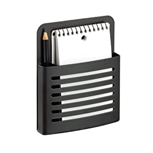 Magnetic Memo Center, Metal Pencil, Pen, and Notepad Holder Organizer for Kitchen, Filing Cabinets, Fridge, Locker, Home, Wall, or Office