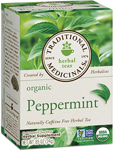 Traditional Medicinals Organic Peppermint Herbal Leaf Tea, 16 Tea Bags (Pack of 6)