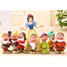"""2"""" - 3"""" 8 pcs Snow White and the Seven Dwarfs Figures Loose Toys Cake Topper"""