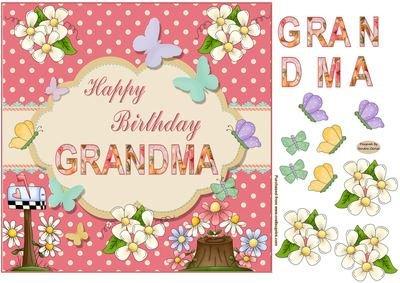 Feliz cumpleaños abuela topper por Sandra Carlse: Amazon.es ...
