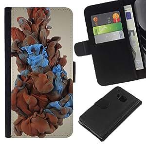 NEECELL GIFT forCITY // Billetera de cuero Caso Cubierta de protección Carcasa / Leather Wallet Case for HTC One M9 // Humo del color