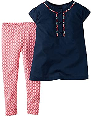 Baby Girls' 2 Piece Embroidered Set