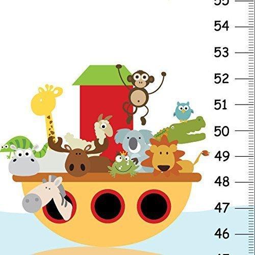 Noah's Ark Height chart - Noah's Ark Bedroom, Baby Nursery Wall Art- Ocean theme Kids Bedroom - Personalized Kids Growth Chart
