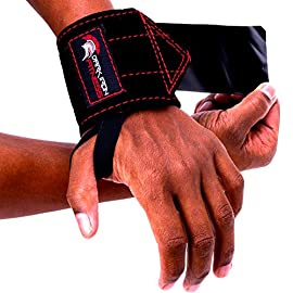Dark Iron Fitness Leather Weight Lifting Wrist Wraps – Brace for Lifting