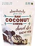 Cheap Absolutely Gluten Free Raw Coconut Chews with Chocolate and Cocoa nibs,Individually Wrapped, 5OZ (3 Pack)
