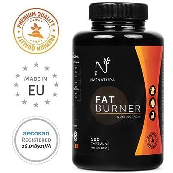 FAT BURNER Nº1. Potente quemagrasas natural alto rendimiento. Termogénico para adelgazar. Suplemento deportivo