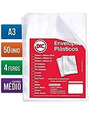 Blister 50 Envelopes A3 Extra Medio 4 Furos DAC Blister 50 Envelopes A3 Extra Medio 4 Furos, Transparente, 5324-50