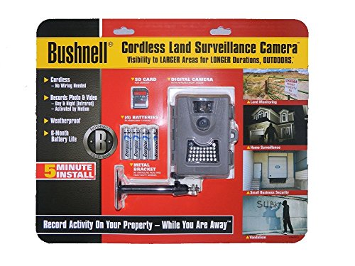 Bushnell Game Camera Trail Camera Low Glow 6 Mp Megapixel 119522 Bundle with Strap, SD Card Lithium Batteries from Bushnell