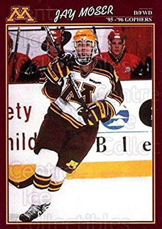 a20b3e11c Amazon.com  (CI) Jay Moser Hockey Card 1995-96 Minnesota Golden Gophers 22  Jay Moser  Collectibles   Fine Art