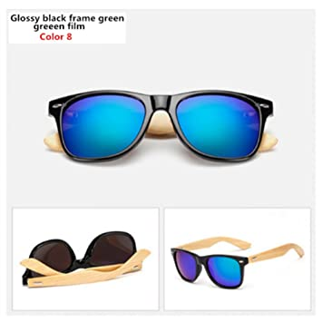 CCGSDJ Gafas De Sol De Bambú Hombres Mujeres Gafas De Sol ...