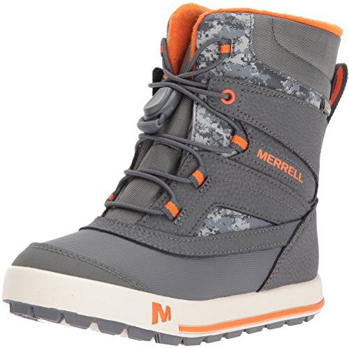 Merrell Snow Bank 2.0 Waterproof Snow Boot (Toddler/Little Kid/Big Kid), Grey/Orange, 10 Medium US Toddler by Merrell