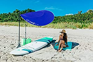 Large Portable Sun Shade Windproof Beach Umbrella with Sand Anchor Perfect for Camping LEAF FOR LIFE The Smart Sunshade Beach Sunshade/&Fishing UPF50 UV Protection 360/° Telescoping Aluminum Poles
