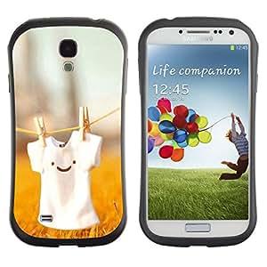 Pulsar iFace Series Tpu silicona Carcasa Funda Case para SAMSUNG Galaxy S4 IV / i9500 / i9515 / i9505G / SGH-i337 , Cute T Shirt Smiley