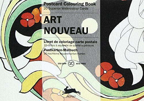 - Art Nouveau : POSTCARD COLOURING BOOK by van Roojen, Pepin (2015) Paperback
