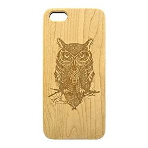 Wood Engraved, Phone Case Mean Angry Owl for iPhone 5c (Maple) by gostart by paywork