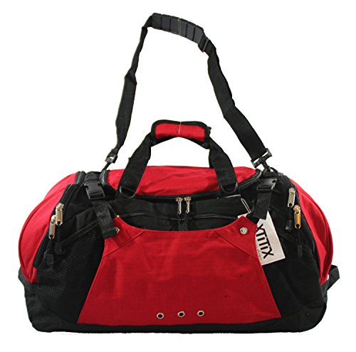 Xtitix Sport Gym Travel Deluxe Rip Stop Stylus Duffel Bag, 25'' L, Red by Xtitix