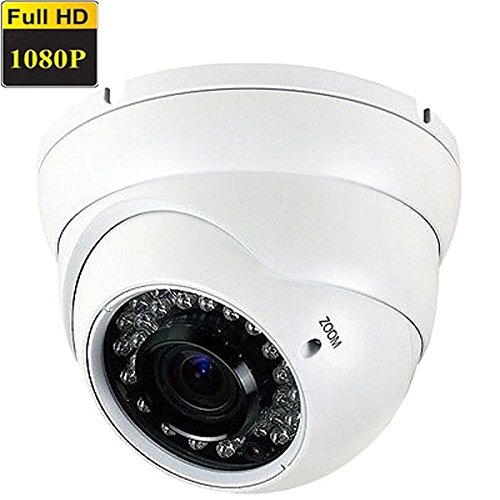 Amview NEW True HD1080P 4-in-1 ( TVI AHD CVI OR 960H) HD 2.6MP 2.8-12mm Varifocal Zoom 36pcs IR LEDs CCTV Surveillance Security Camera