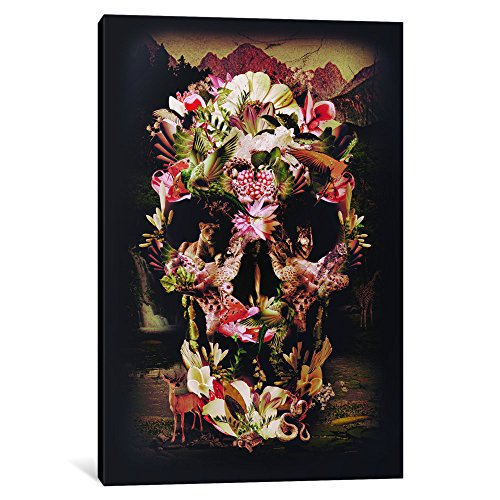 (iCanvasART 1-Piece Jungle Skull Canvas Print by Ali Gulec, 1.5 by 12 by 18-Inch )
