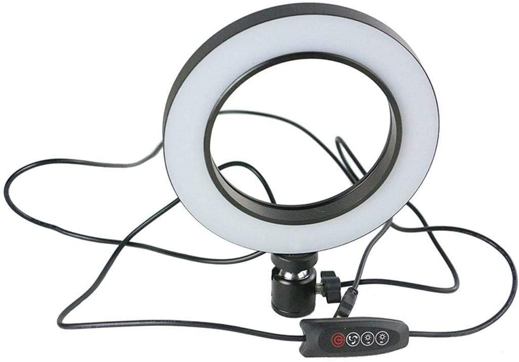 ierkag Broadcast Live Photography Fill Light LED Camera Phone Flash Dimmable Light On-Camera Video Light