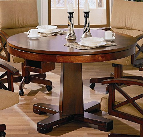 Coaster Home Furnishings Marietta 3-in-1 Dining & Game Table - Oak Folding Poker Table