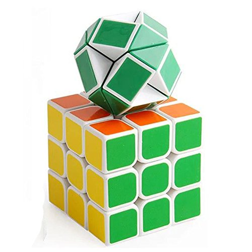 The Cubes Set, Fashion365 Rubik's Magic Speed Cubes Set 3x3 Cube + Snake Cube with Quicker Preciser Smoother Variety Shape and Vivid Colors for Brain Teaser Brain Storm Suits Kids Adult