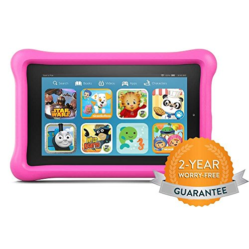 Fire Kids Edition Tablet, 7″ Display, 16 GB, Pink Kid-Proof Case (Previous Generation – 5th)