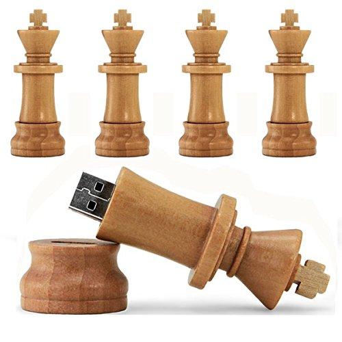 ZUBER® - Llavero de ajedrez de madera con USB para XP/Vista ...