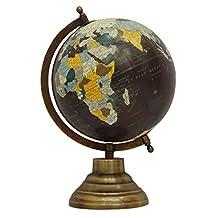 Decorative Rotating Globe World Purple Ocean Geography Earth Table Decor