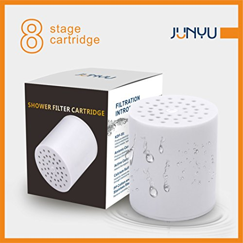 junyu 8 stage shower filter cartridge no housing removes chlorine sediments and other harmful. Black Bedroom Furniture Sets. Home Design Ideas