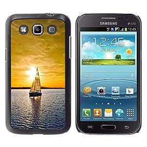 Be Good Phone Accessory // Dura Cáscara cubierta Protectora Caso Carcasa Funda de Protección para Samsung Galaxy Win I8550 I8552 Grand Quattro // Sunset Sailing Boat Sea